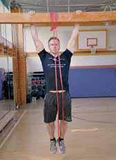 Du kan også bruge et elastik til at lette kampen mod tyngdekraften